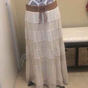 Women's Lapis BOHO Peasant Skirt